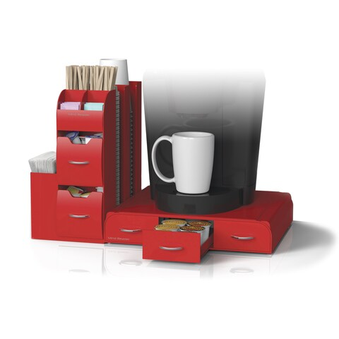 Mind Reader 'Combo' 2 pc Drawer and Condiment Caddy Organizer- Red
