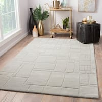 Ellington Handmade Geometric Light Gray Area Rug