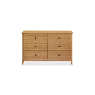 Eco Ridge by Bamax ECO05CA Willow Six Drawer Double Dresser, Caramelized