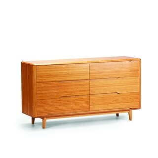 Greenington Currant Lacquered Caramelized Bamboo 6-drawer Double Dresser