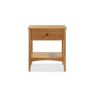 Eco Ridge by Bamax ECO03CA Willow 1 Drawer Nightstand, Caramelized