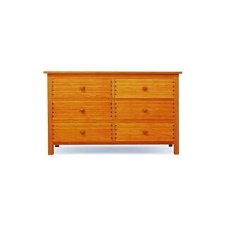 Greenington Hosta Caramelized Gold Lacquer Bamboo 6-drawer Double Dresser