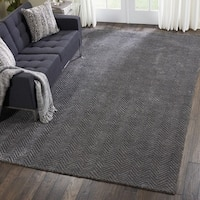 Nourison Modern Deco Hand Tufted Grey Area Rug - 9'6 X  13'