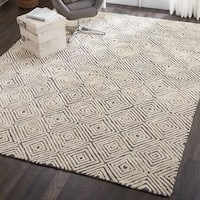 Nourison Modern Deco Hand Tufted Grey/Ivory Area Rug - 9'6 X  13'