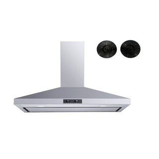 """Winflo O-W103C36SRF 36"""" Convertible Stainless Steel Wall Mount Range Hood with Carbon Filters"""