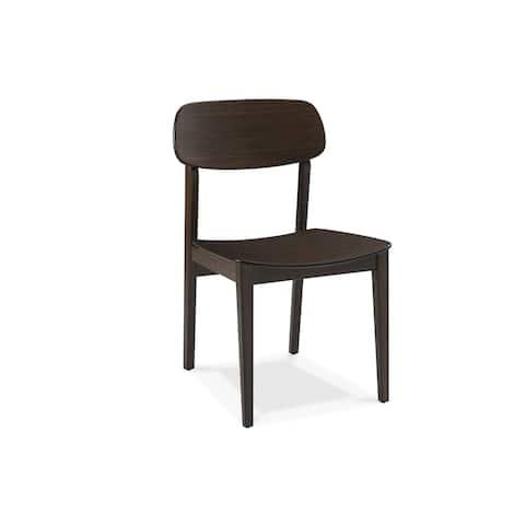 Greenington G0023BL Currant Dining Chair, Black Walnut, (Set of 2)