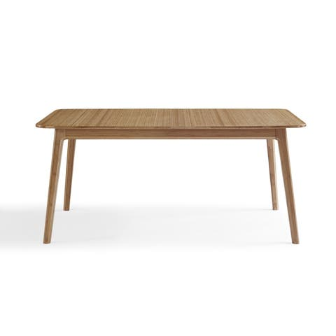 Greenington Laurel Lacquered Caramelized Bamboo Extendable Dining Table