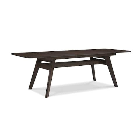 "Greenington G0022BL Currant 72 - 92"" Extendable Dining Table, Black Walnut - Brown"