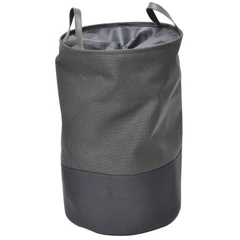 """Evideco Pop-Up Collapsible Laundry Hamper with Closing Mesh - 14"""" Diameter x 22.5 inches H (36 Diam x 57 cm)"""