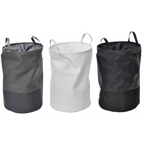 "Evideco Pop-Up Collapsible Laundry Hamper with Closing Mesh - 14"" Diameter x 22.5 inches H (36 Diam x 57 cm)"