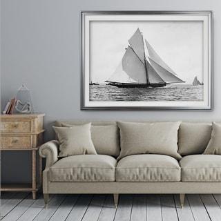 Sailing Yacht V - Premium Framed Print