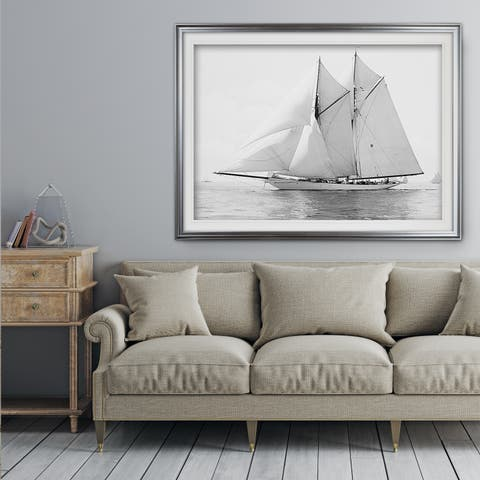 Sailing Yachy IV - Premium Framed Print