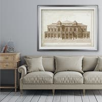 Architecture Sketch I - Premium Framed Print