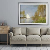 Small Boat on the Small Branch of the Sein - Premium Framed Print