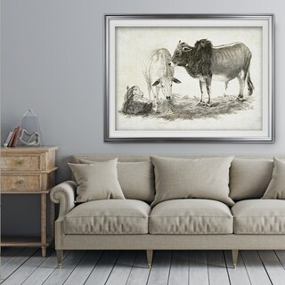 Cattle Sketch VI - Premium Framed Print