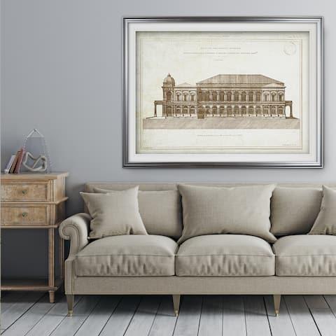 Architecture Sketch II - Premium Framed Print