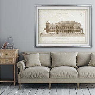 Architecture Sketch II - Premium Framed Print