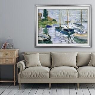 Barques au repos - Premium Framed Print