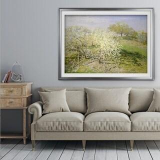 Apple-Trees-in-Bloom -by Van Gogh - Premium Framed Print