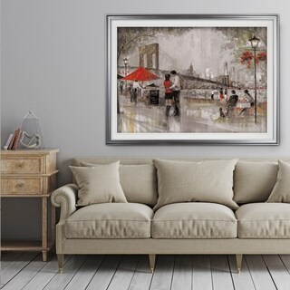 New York Romance - Premium Framed Print