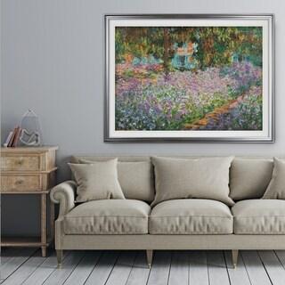 Irises-in-Garden -Claude Monet - Premium Framed Print