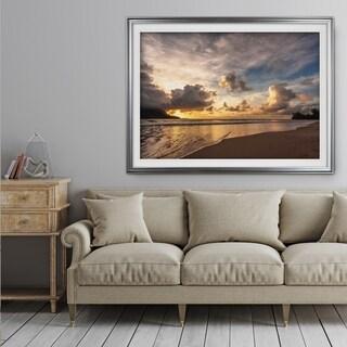 Sunset in Hanalei Bay - Premium Framed Print