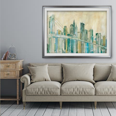 New York City Sketch - Premium Framed Print