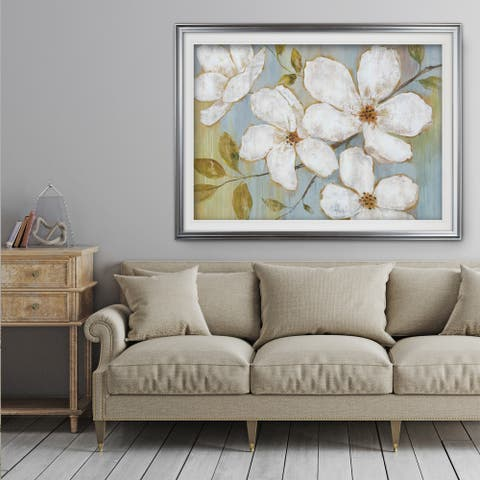 White Blossoms - Premium Framed Print