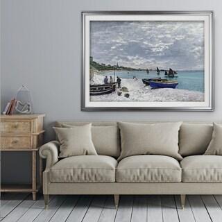 The-Beach -Claude Monet - Premium Framed Print
