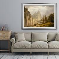 Merced-River -by Albert Bierstadt - Premium Framed Print