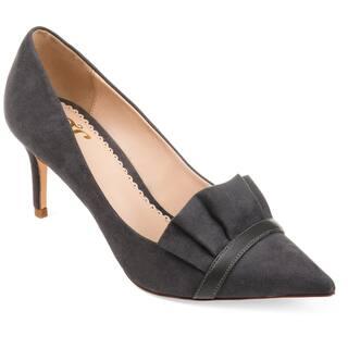 Journee Collection Women's 'Marek' Ruffle Pointed Toe Skinny Heels