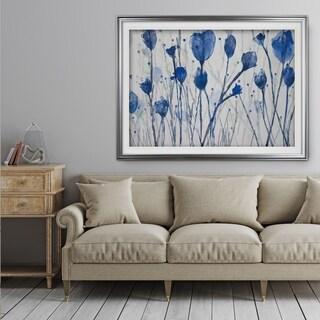 Blue Day Garden - Premium Framed Print