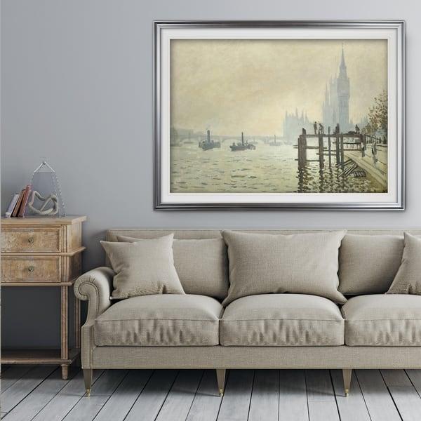 Thames Below Westminster Claude Monet Premium Framed Print Overstock 20584376