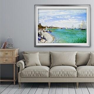 Regatta-at-Sainte1 -Claude Monet - Premium Framed Print