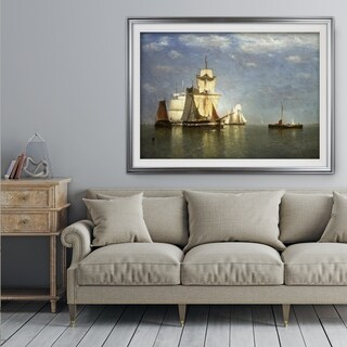 Ships-lying-off-Flushing -by Paul Jean Clays - Premium Framed Print