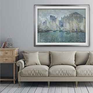The-Museum-at-Le-Havre -Claude Monet - Premium Framed Print