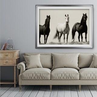 Wild Stallions - Premium Framed Print