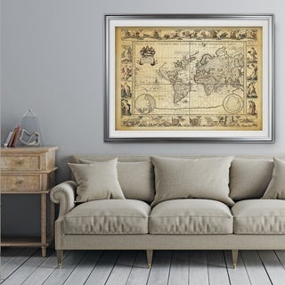 Vintage Wold Map VIIII Antique - Premium Framed Print (3 options available)