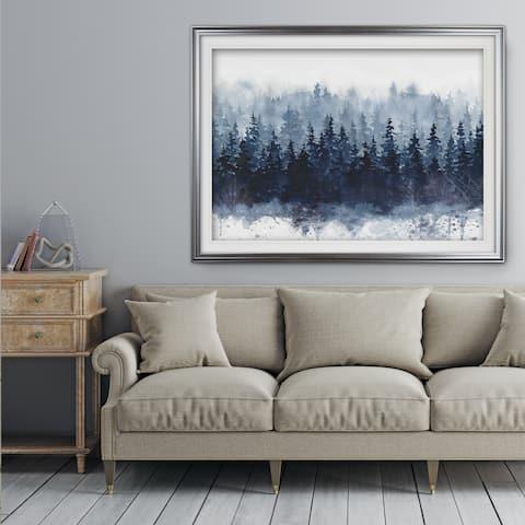 Indigo Forest - Premium Framed Print