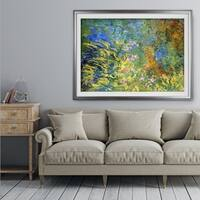 Irises-by-the-Pond -Claude Monet - Premium Framed Print