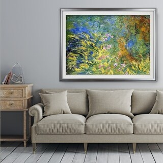 Irises-by-the-Pond -Claude Monet - Premium Framed Print