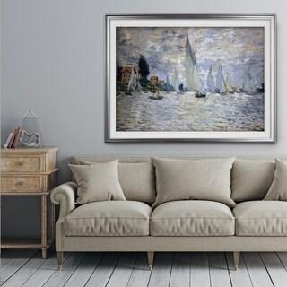Boats-Regatta -Claude Monet - Premium Framed Print