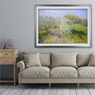 Fruit-Trees-in-Bloom -Claude Monet - Premium Framed Print