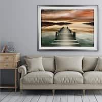 Sunset Jetty - Premium Framed Print
