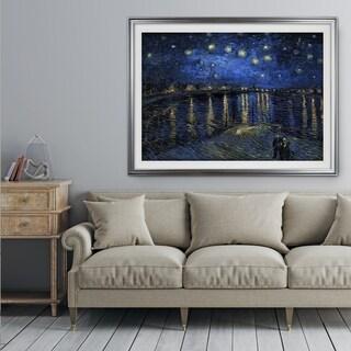 Over-the-Rhône -Claude Monet - Premium Framed Print