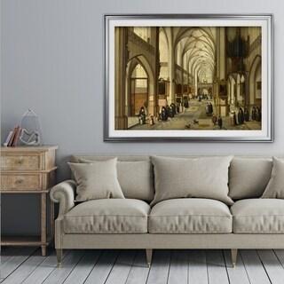 Gothic-Church -by Hendrick-van-Steenwyck - Premium Framed Print
