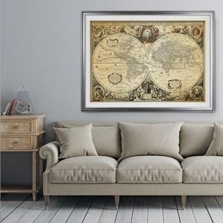 Parchment Treasue Map - Premium Framed Print