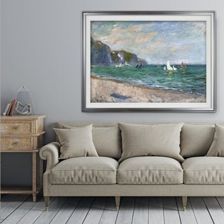 Sailboats-near-the-Sea -Claude Monet - Premium Framed Print