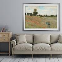 Poppy-Field -Claude Monet - Premium Framed Print