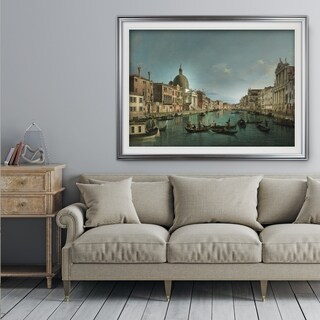 Venice-The-Grand-Canal -by CANALETTO - Premium Framed Print